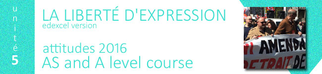 liberte d'expression course, edexcel as french